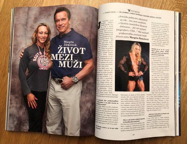 Margita Zámolová se objevila v dubnovém čísle Playboye