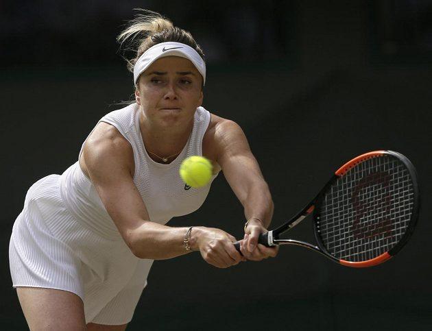 Elina Svitolinová z Ukrajiny ve čtvrtfinále s Karolínou Muchovou.