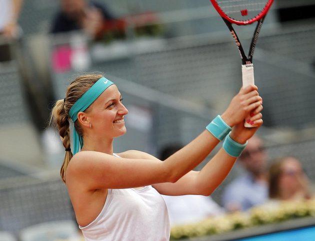Radost Petry Kvitové z druhého vítězství na okruhu WTA v této sezóně.