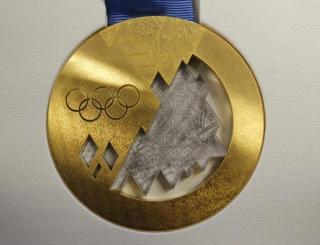Zlatá olympijská medaile pro vítěze v Soči