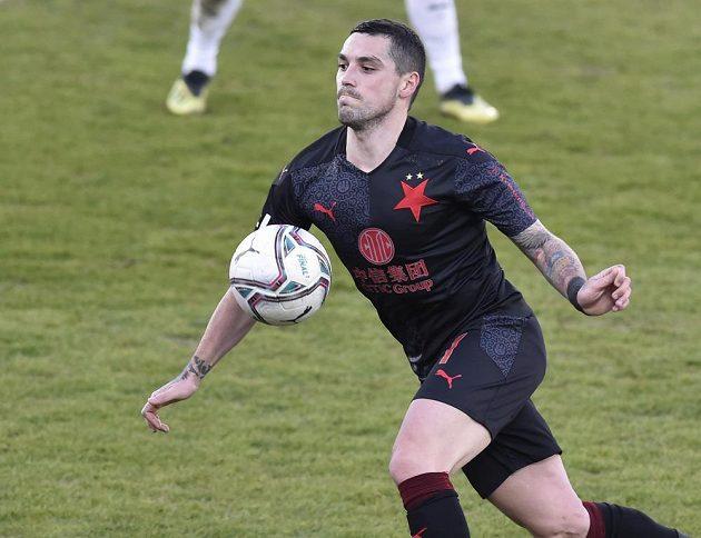 Nicolae Stanciu ze Slavie ozdobil svůj parádní výkon proti Slovácku dvěma góly.