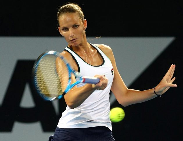 Karolína Plíšková si ve čtvrtfinále v Brisbane zahrála s domácí Ajlou Tomljanovicovou.