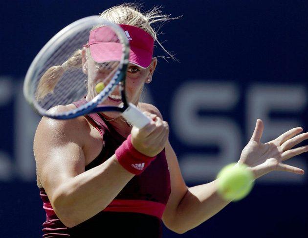 Maďarská tenistka Timea Babosová v duelu s Lucií Šafářovou.