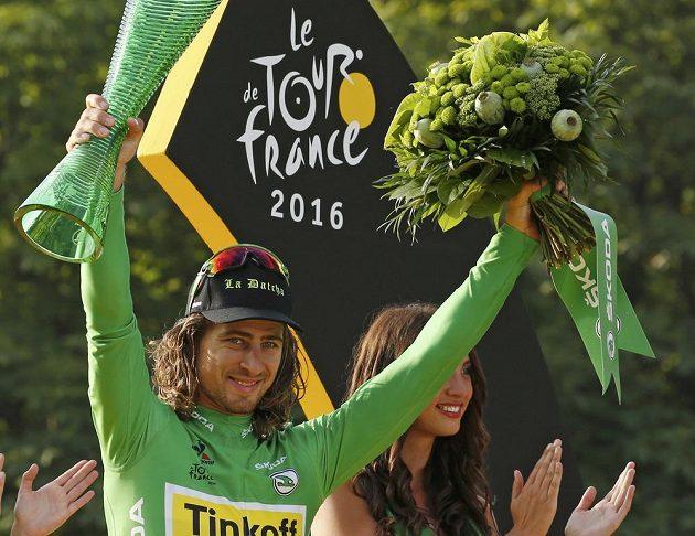 Vítěz bodovací soutěže Tour de France Peter Sagan.
