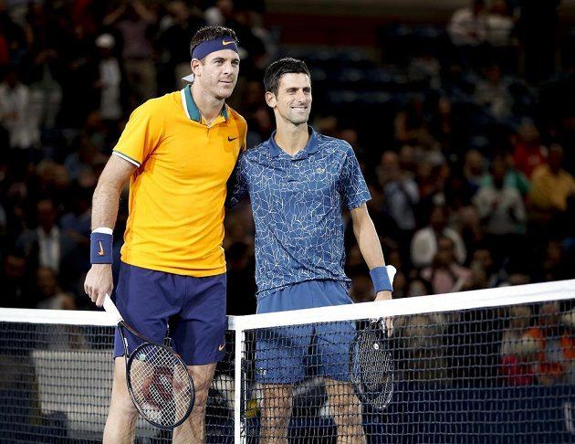 Juan Martin del Potro a Novak Djokovič před finále