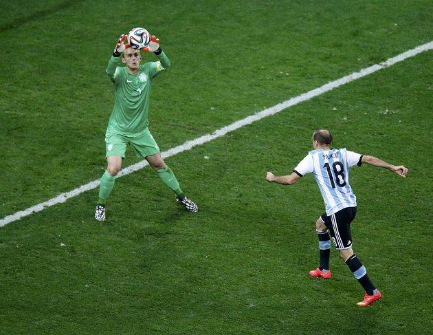 Argentinec Rodrigo Palacio mohl rozhodnout v prodloužení, ale hlavičkou Jaspera Cillessena v nizozemské bráně nepřekonal.