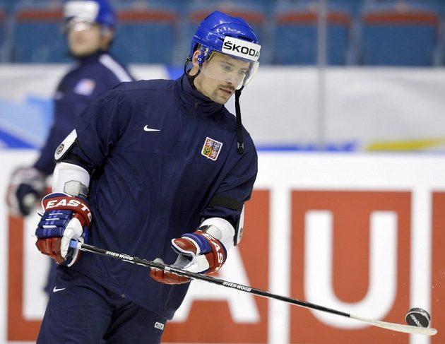 Tomáš Plekanec si po zápase s Kanadou (1:2) poprvé zabruslil s národním týmem.