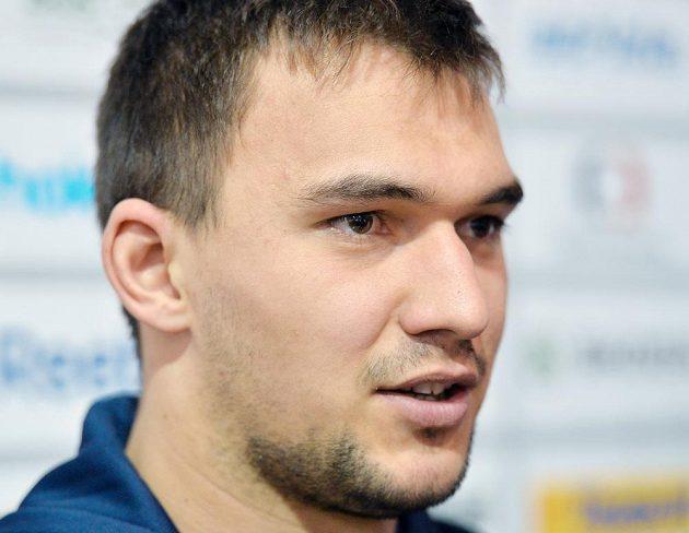Brankář národního týmu Jakub Kovář.
