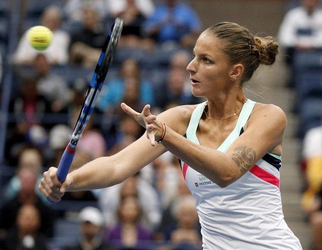 Karolína Plíšková ve čtvrtfinále grandslamového US Open.