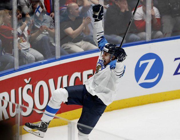 Marko Anttila vstřelil první gól Finska v semifinále s Ruskem.