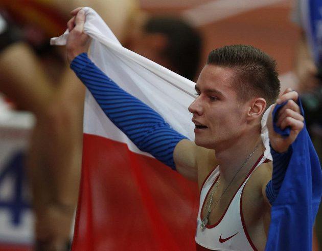 S českou vlajkou slavil čtvrtkař Pavel Maslák na HME v Bělehradě další triumf.