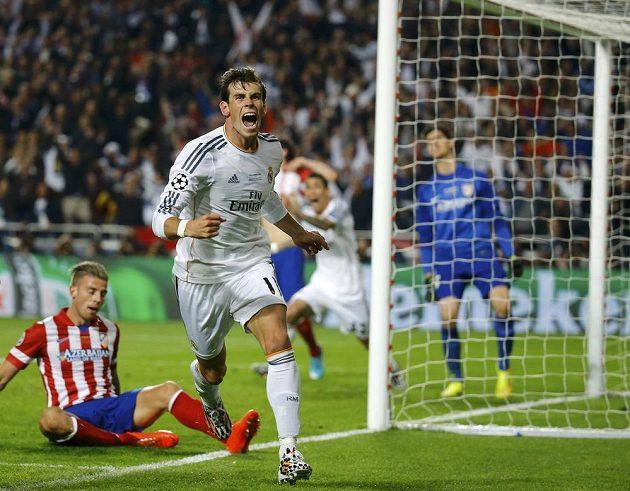 Gareth Bale po svém gólu ve finále LM.