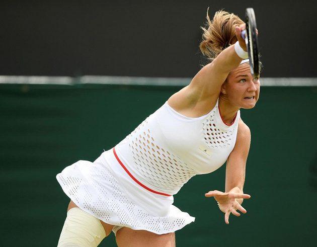 Česká tenistka Karolína Muchová ve Wimbledonu.