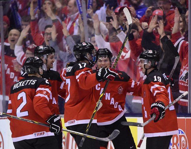 Raodst mladých Kanaďanů po gólu v síti Slováků v semifinále MS dvacetiletých v Torontu.