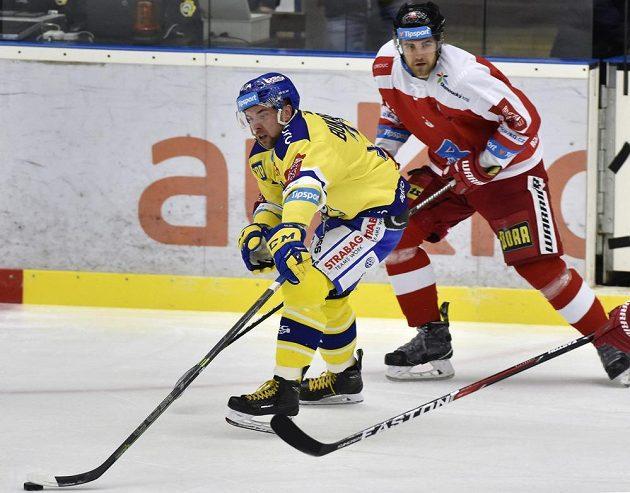 Zleva Roberts Bukarts ze Zlína a David Škůrek z Olomouce.
