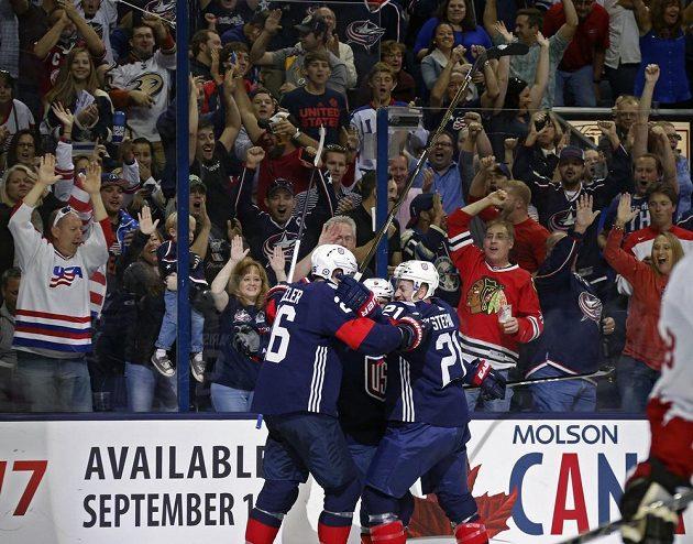 Americká radost po jednom ze vstřelených branek.