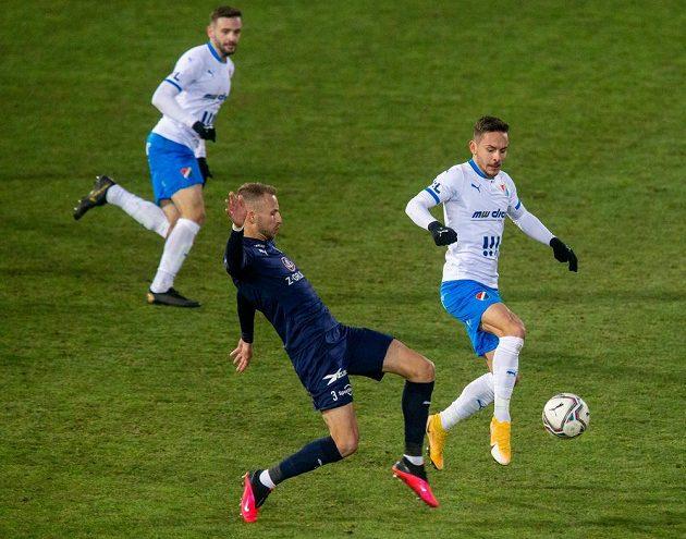 Zleva Tomáš Zajíc z Ostravy, Michal Kadlec ze Slovácka a Daniel Holzer z Ostravy.