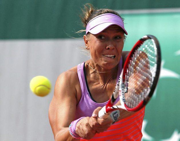Česká tenistka Lucie Hradecká v úvodním kole French Open.