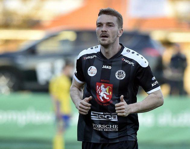 Milan Černý přispěl gólem k výhře hradeckého týmu ve Zlíně.