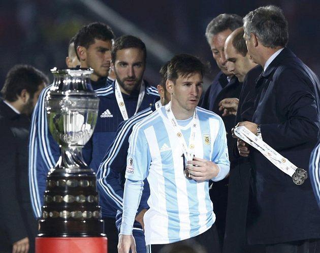 Stříbrná medaile Lionelu Messimu rozhodně radost neudělala.