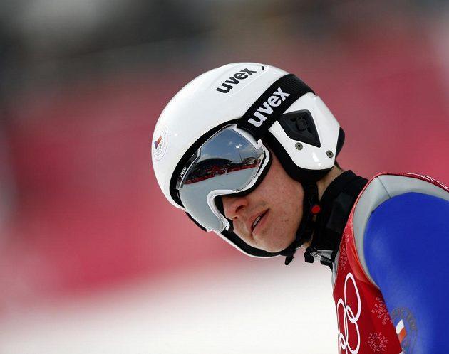 Sdruženář Ondřej Pažout po skoku v olympijském závodě.