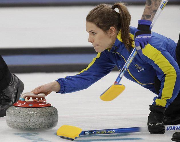 Ve finále ženské soutěže v curlingu se utkala Korea se Švédskem.