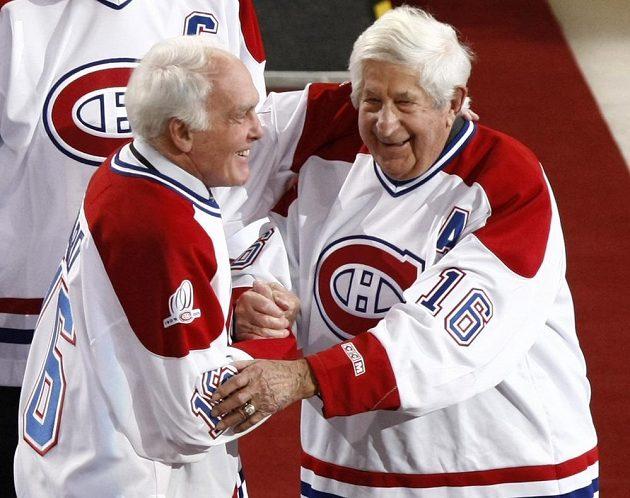 Montreal odměňuje své legendy. Zleva Henry Richard a Elmer Lach.