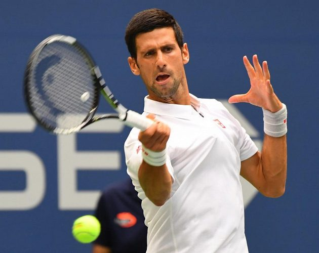 Srb Novak Djokovič v zápase 3. kola US Open.