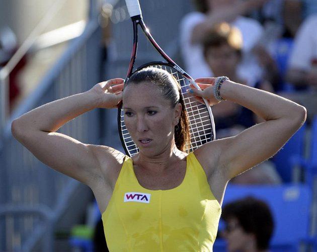 Srbská tenistka Jelena Jankovičová na turnaji v Montrealu.