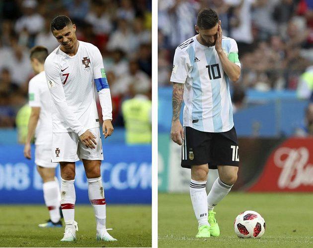 Je konec. Největší hvězdy současného fotbalu na MS dohrály v osmifinále. S šampionátem se rozloučil Portugalec Cristiano Ronaldo i Argentinec Lionel Messi.