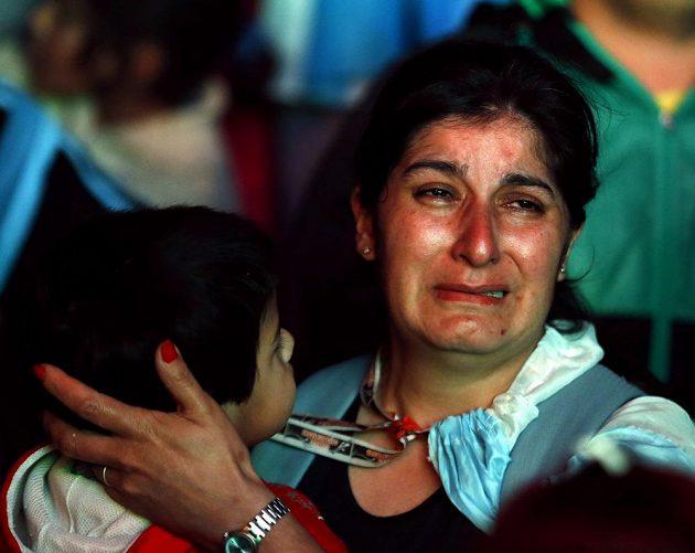 Obrovské zklamání argentinských fanoušků po porážce s Německem.
