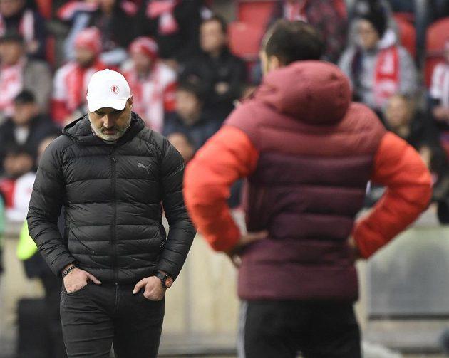 Utkání 24. kola první fotbalové ligy: Slavia Praha - Sparta Praha, 8. března 2020 v Praze. Trenér Slavie Jindřich Trpišovský.