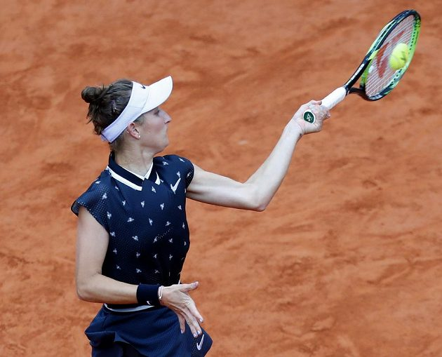 Markéta Vondroušová během svého prvního grandslamového finále.
