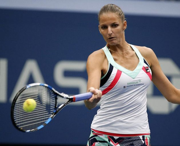 Karolína Plíšková ve čtvrtfinále US Open.