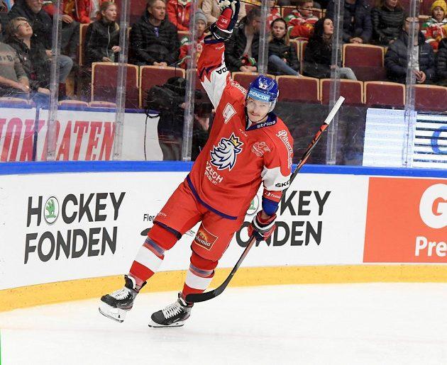 Dmitrij Jaškin se raduje po gólu proti Švédsku.