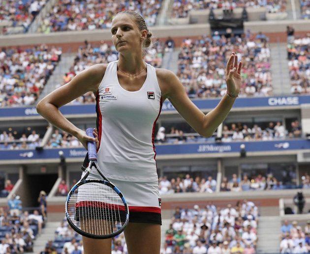 Karolína Plíšková ve finále US Open proti Angelique Kerberové z Německa.