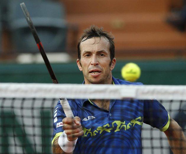 Radek Štěpánek na letošním French Open v Paříži.