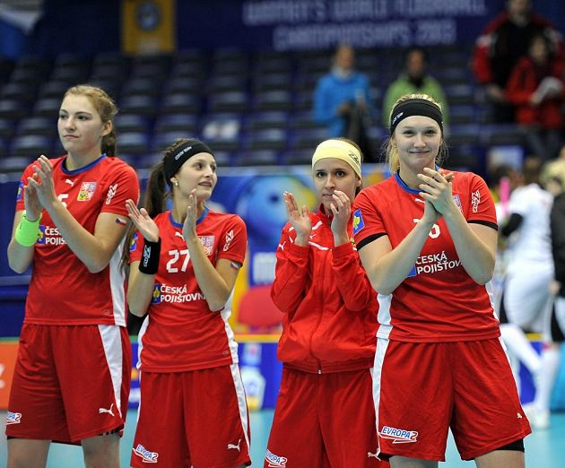 České reprezentanky zleva Eliška Krupnová, Dominika Šteglová, Jana Vojáčková a Tereza Urbánková.