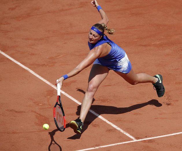 Česká tenistka Petra Kvitová ve druhém kole French Open.