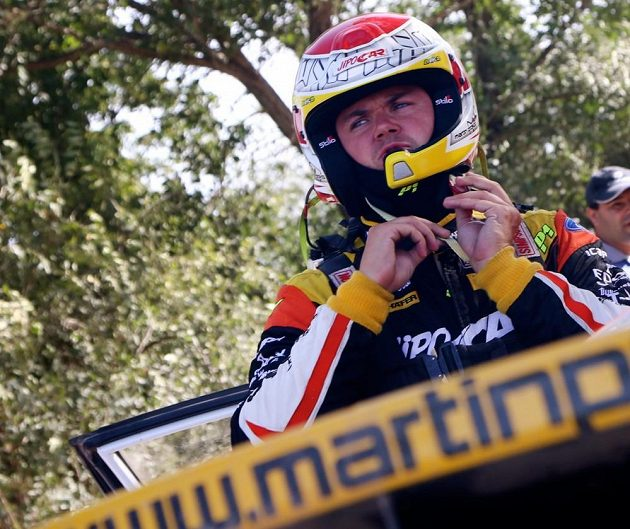 Martin Prokop se chystá na rychlostní zkoušku Rallye Argentina 2015.