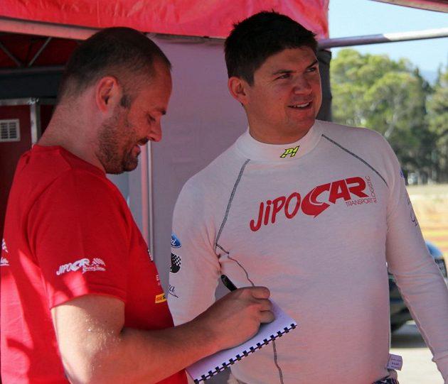 Martin Prokop s Fordem Fiesta WRC na trati Rallye Akropolis.