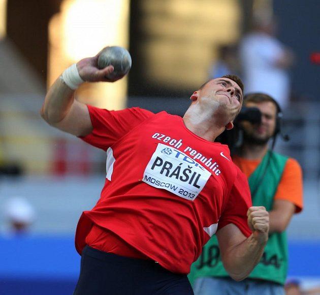 Ladislav Prášil ve finále koulařské soutěže na mistrovství světa v Moskvě.