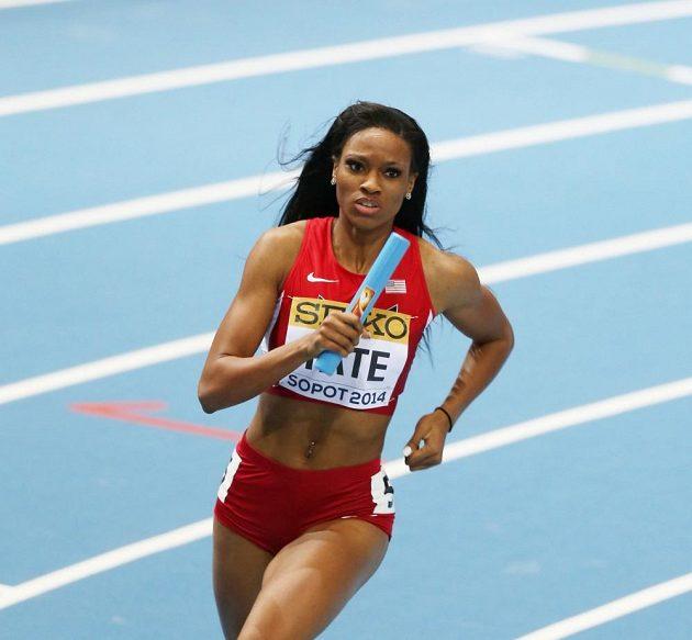 Cassandra Tateová, členka vítězné americké štafety na 4x400 m.