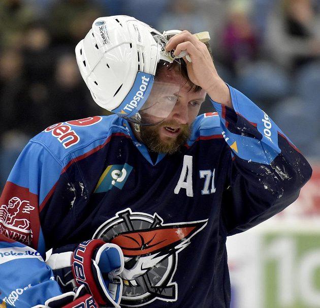 Chomutovský útočník Ivan Huml podtrhl střelecký účet utkání s Jihlavou.