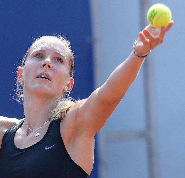 Nicole Vaidišová v utkání tenisového turnaje Advantage Cars Prague Open.