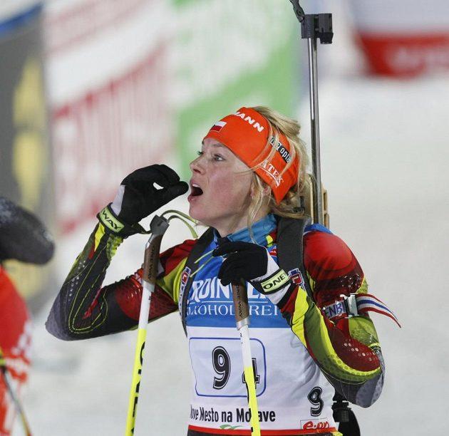 Barbora Tomešová jela poslední čtvrtý úsek.
