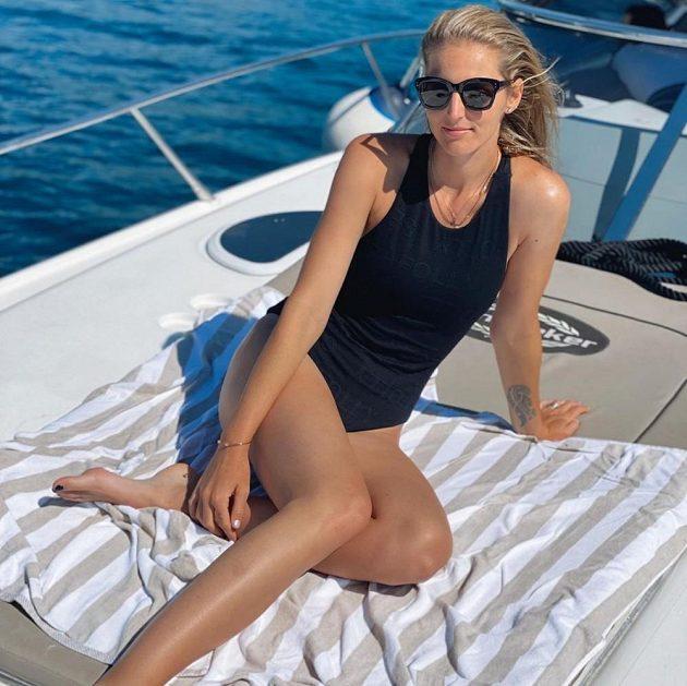 Kristýna Plíšková během dovolené v Chorvatsku.
