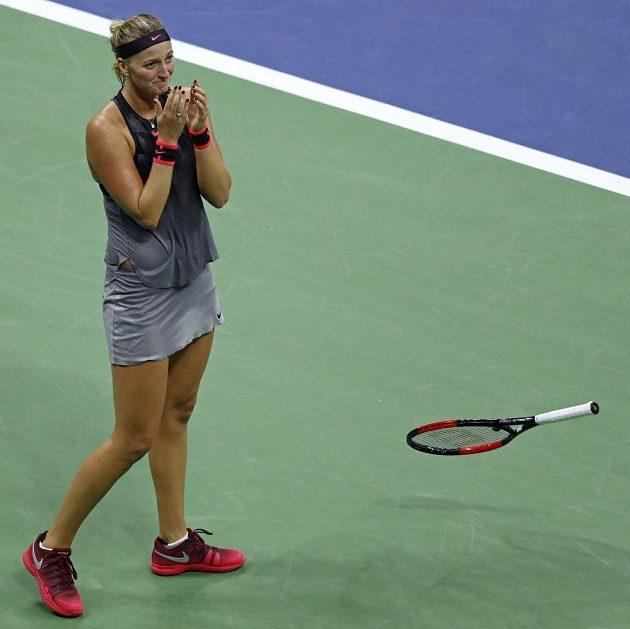 Bezprostřední reakce Petry Kvitové po vítězství v osmifinále US Open.