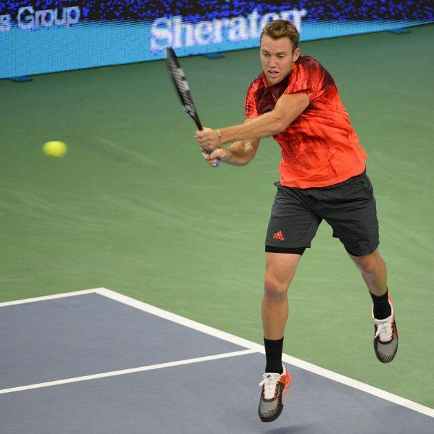 Americký tenista Jack Sock ve finálovém zápase proti Tomáši Berdychovi.