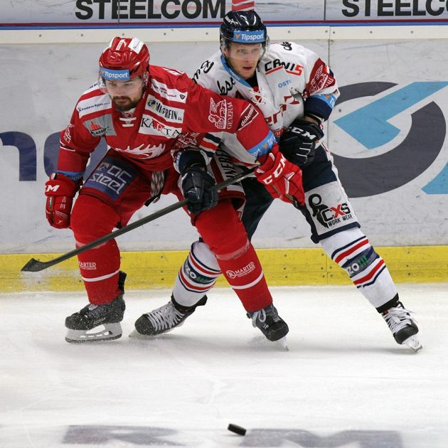 Zleva Milan Doudera z Třince a Jan Schleiss z Vítkovic.